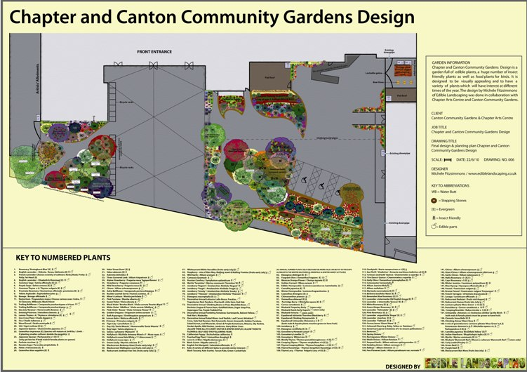 Chapter Community Garden. A permaculture edible garden design for Chapter Arts Centre, Cardiff, Wales