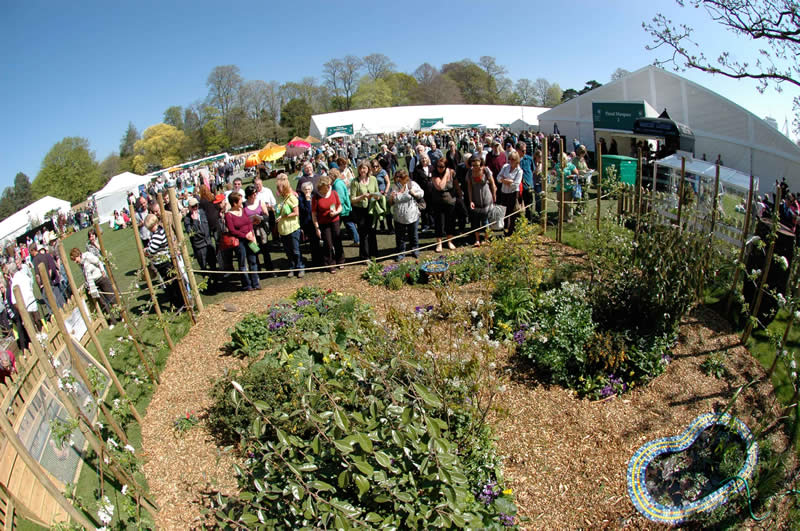 Over 17,000 people visited the RHS show giving great exposure to this garden and permaculture in general.